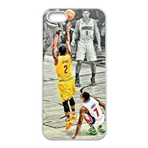 wugdiy New Fashion Hard Back Cover Case for iPhone 5,5S with New Printed Kyrie Irving