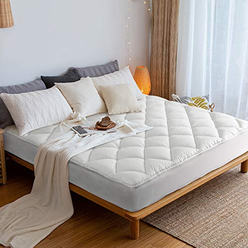 COONMO Mattress pad Cover Queen Size dust-Proof 8-21deep Cooling Non-Slip Mattress Cover