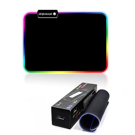 TYBLOOMY RGB Alfombrilla de Ratón, Alfombrilla de Ratón Ordenador Gaming Múltiples Modos Efectos de Luces