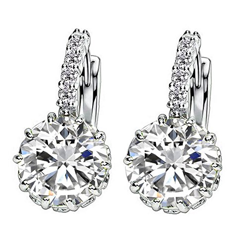 1-pair-fashion-women-elegant-crystal-rhinestone-silver-plated-ear-stud-earrings-white