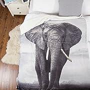 Bedsure Elephant Sherpa Throw Blanket Animal Bedding Blanket 50x60 Reversible Throw Fuzzy Microfiber Blanket