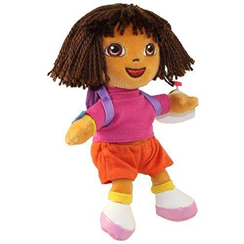 TY Beanie Baby - DORA the Explorer (Yarn Hair Version) (7.5 - Dora Plush Explorer Doll The
