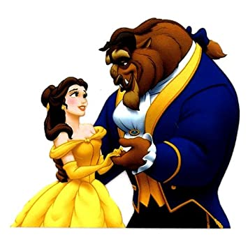 BELLE Dancing With Beast In Beauty And The Movie Princess Disney Glitter Heat Iron On