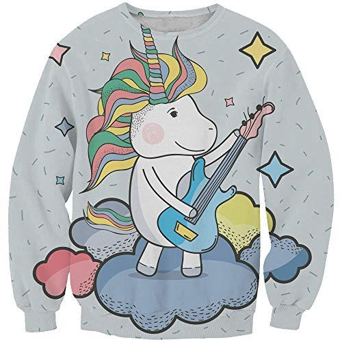 EnlaMorea Kids' Casual Unicorn Hoodie Sweatshirt for Boys Girls,Music Unicorn,11-12 Years by EnlaMorea (Image #3)