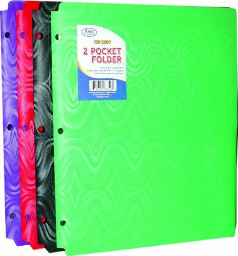 DDI 1294684 Two Pocket Plastic Folders - Snap IN - 9.5 in. x11.5 in. Case Of 48 by DDI