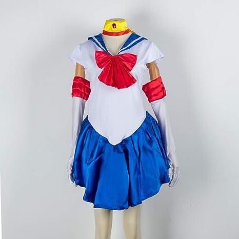 Baipin Disfraz De Sailor Moon Anime Cosplay, Azul Oscuro Vestido y ...