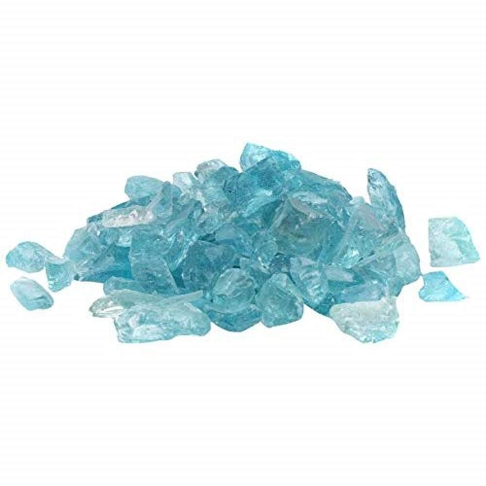 Dragon Glass 1/2'' 25 lb Caribbean Blue Landscape Glass by Dragon Glass