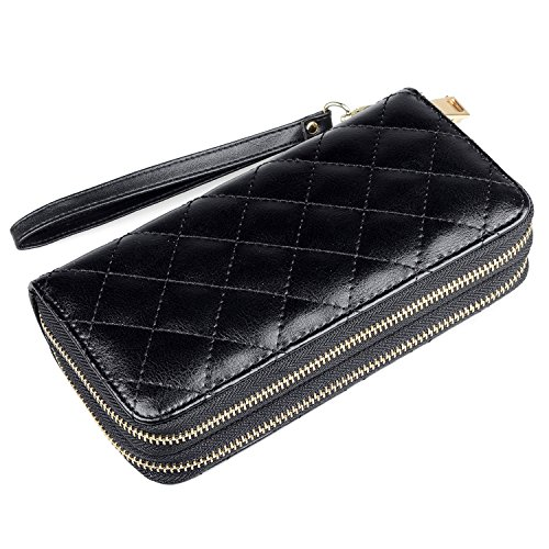 Katloo Leather Quilted Wristlet Organizer