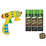 Silly String Spray Streamer Blaster Pack Silly String Glow In The Dark 3 Oz. (3), Silly String Toy Blaster Gun Shooter (1)