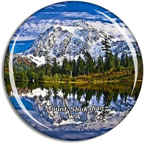 シュクシャン山ワシントン米国冷蔵庫マグネット3Dクリスタルガラス観光都市旅行お土産コレクションギフト強い冷蔵庫ステッカー