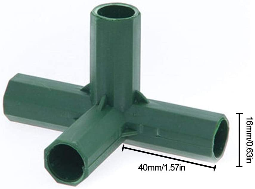 Raccord en PVC 5 Types De Soutien Stable Connecteur De Construction De Cadre De Serre Robuste Connecteur De Construction De Cadre De Serre 16 MM