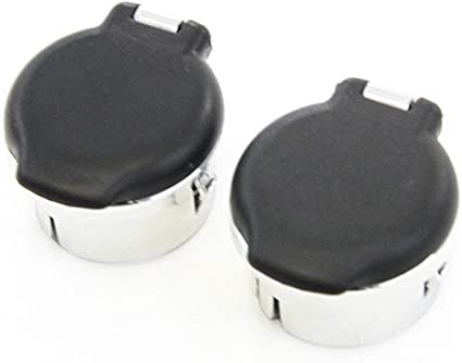 Black w//Chrome 12 Volt Power Outlet Dash Retainer Plug Cover Cap for Chevrolet Silverado GMC Sierra 1500 2500HD 3500 07-13 Replacement 20983936