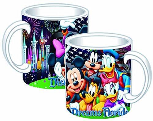 Disney Mickey Mouse Donald Duck Goofy Pluto Minnie Mouse Jumbo Ceramic Mug Firework Mug Jumbo 14oz Ceramic Mug