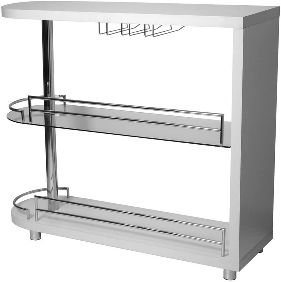 Homegear Deluxe Kitchen Bar Table – White