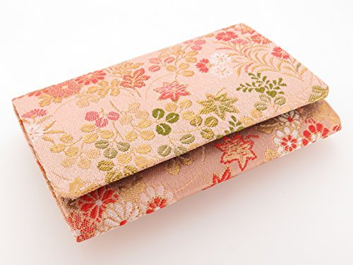 Business card holder card case with the sum pattern kimono fabric Kyoto Nishijin ()