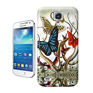 Unique Phone Case Illustration art An acrylic on canvas painting by artist Solongo Monkhooroi of giant butterflies and tentacles Hard Cover for samsung galaxy s4 cases-buythecase