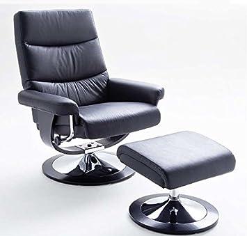 Relaxsessel Modernes Design Leder 130 Kg Schwarz Amazonde