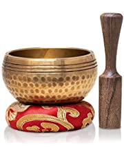 Tibetan Singing Bowls Set~ Meditation Sound Bowl hand Hammered in Nepal For Yoga, Meditation, Mindfulness, Healing & Chakra balancing~