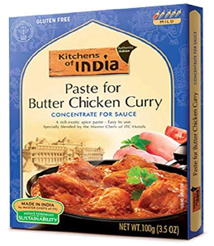 Kitchens of India Paste, Butter Chicken Curry, 3.5-Ounces, Pack of 1 (6 count) (Butter Chicken, 2 pack (3.5 Ounce (6 Count)))
