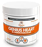 Genius Heart & Cardiovascular Health Supplement – Cholesterol Lowering Vein & Blood Pressure Support w/ Grape Seed Extract, Vitamin K2 MK7 & CoQ10 – Antioxidant Energy For Men & Women,60 Veggie Pills