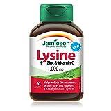 Jamieson 7992 Lysine + zinc & vitamin c Tablets, 60 Count