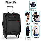 CADeN Camera Backpack Trolley Case with Mute Alloy