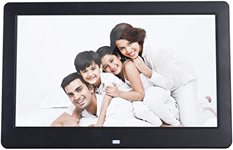 Mengen88 10 Inch Full HD Digital Photo Frame 1024/×600 High Resolution LED Screen Multimedia Player Advertising Media Player with Motion Detection,Black