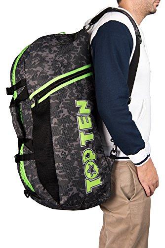 "TOP TEN Rucksack - Tasche CAMOUFLAGE grau grün GG ""S"" Small 8002-1503"