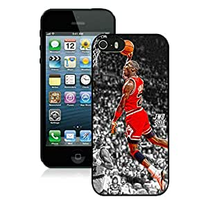 Fashionable Antiskid Cover Case For iPhone 5s With Michael Jordan 5 Black Phone Case