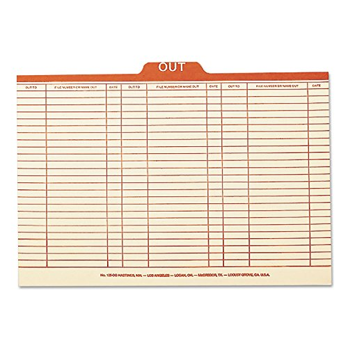 (Smead 53910 Charge-Out Record Guides 1/5 Red