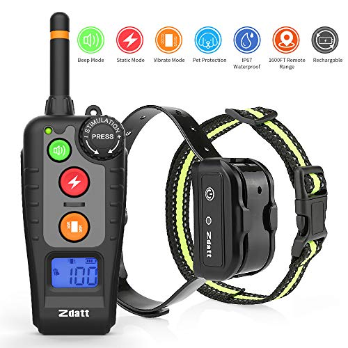 ZDATT Shock collar for dogs [2020 Latest Vesion] Dog Training Collar w/3 Training Modes Dog Shock Collar with Remote 100…
