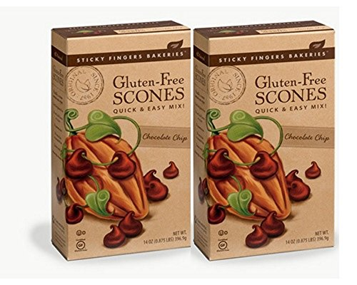 Sticky Fingers Premium Gluten Free Scone Mix (2-Pack) (Chocolate Chip) (Mix Chocolate Scone)