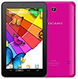 KOCASO MX790 [7 INCH] [Android 5.1] Tablet PC- (Quad Core, 8GB Built-In-Memory, Dual Camera 1024600 WiFi MicroSD Card Slot Micro USB) FREE Earbuds Screen Protector Stylus Pen Carrying Pouch- Hot Pink