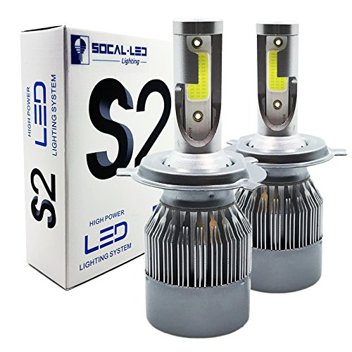 SOCAL-LED 2x Automotive H4 9003 36W Hi/Lo Headlight Bulbs LED Conversion Kit Xenon 6000K White Halogen/HID Replacement