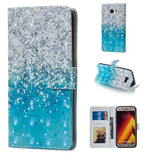 Silicone Fiore 2017 Galaxy Case Protector Custodia A520 Leather Farfalla In Samsung Flip Blu Cover Copertura Bumper 3d Schede Pelle Portafoglio Slot A5 Pu Kickstand Argento Per Wallet OwSnfxY