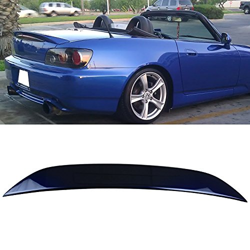 Pre-painted Trunk Spoiler Fits 2005 Honda S2000 | Factory Style ABS Painted Navy Blue Pearl #B523P Rear Tail Lip Deck Boot Wing Other Color Available By IKON MOTORSPORTS