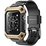 Apple Watch 2 Case, SUPCASE [Unicorn Beetle Pro] Rugged Protective Case with Strap Bands for Apple Watch 2 2016 Edition [Compatible with Apple Watch 42 mm First Generation 2015](Gold)