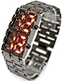 iMounTEK Lava LED Digital Watch with Anti-shock, Scratch Resistance, 12HR and 24HR Time Modes - Black