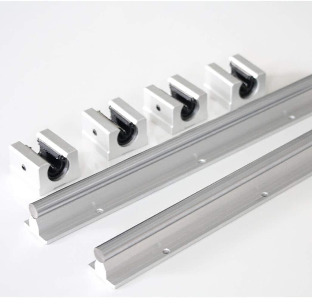 L200mm 12mm Shaft Dia Linear Bearing Support Rail CNC Linear Motion