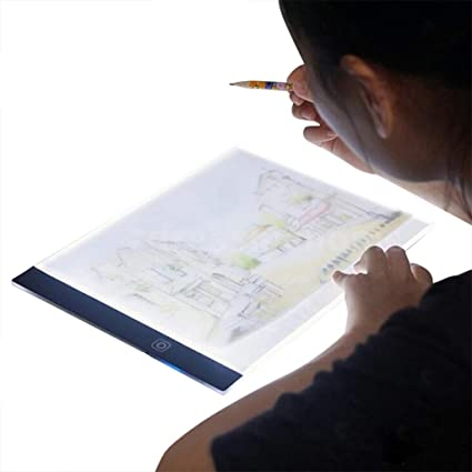 White LED A5 Painting Tracing Board,Dimmable Artcraft Tracing Light Box Light Board Copy Pad Panel Drawing Tablet Art Artcraft Stencil