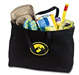 Broad Bay JUMBO Iowa Hawkeyes Tote Bag or Large Canvas University of Iowa Shopping Bag