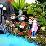 "New ""No.25 5Pcs Lovely Girls"" Lots Garden Craft Plant Pots Fairy Ornament Miniature Figurine Dollhouse Decor Set21"