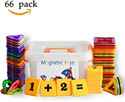 CHanvi Magnetic Building Blocks, Magnetic Tiles, 66 Pcs Magnetic Tiles Building Blocks Magnetic Construction Set Educational Stacking Toys
