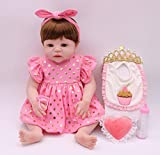 Pursue Baby Washable Full Body Lifelike Newborn Baby Girl Doll Anatomically Correct Adriana, 22 Inch Real Looking Infant Baby Doll Children Gift