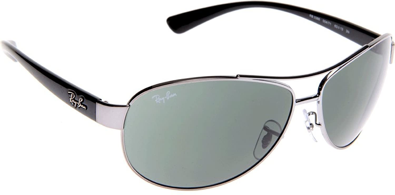 7d0ff7527956e ... promo code for ray ban sunglasses rb3386 00471 metal acetate silver  black grey green new 83308