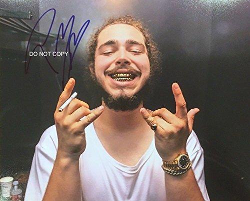 - Post Malone rapper singer reprint signed 8x10 photo #3 RP Rockstar