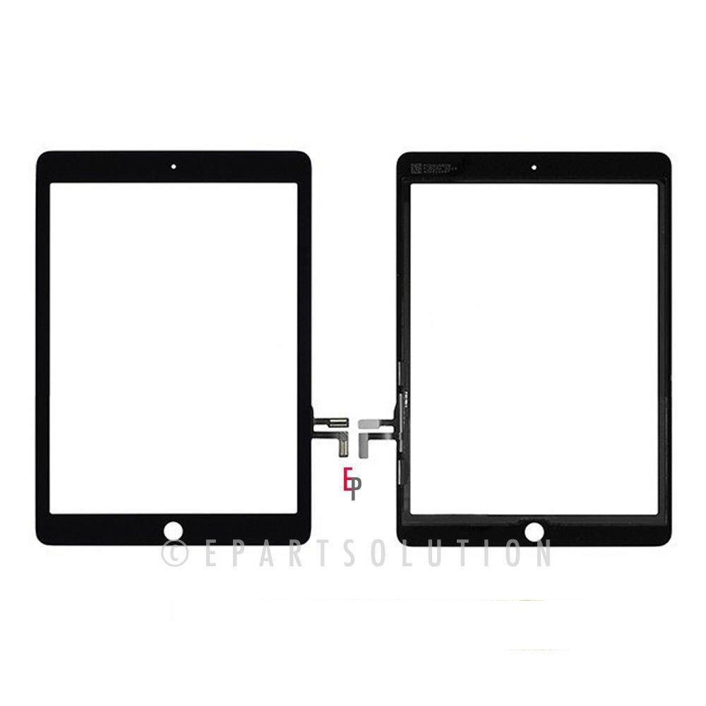 ePartSolution_A1822 A1823 iPad 5th Gen 9.7'' 2017 Ver. Touch Screen Digitizer Glass Lens Replacement Part USA Seller (Black)