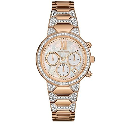 Wittnauer - WN4068 Rose Gold Crystal Chronograph (Wrist Gold Watch Wittnauer)