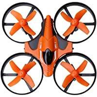 Dwi Dowellin Mini RC Drone 2.4G Mini UFO Nano Quadcopter RTF with 6-Axis Gyroscope 3D Flip One Key Return Headless Mode X2 Orange