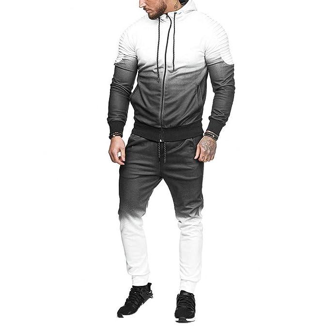 Morwind Chándal para Hombre, Conjuntos Sudaderas + Pantalones Leggins Deporte Chandal Sportswear Sport Suit Camisa de Manga Larga Casual chándal Streetwear: ...